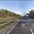 The incident was reported on the A14 at the junction for the A140, near Needham Market