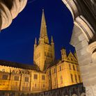 Norwich Cathedral after the Norwich Research park event And Evening with Dippy