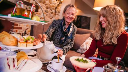 Christmas afternoon tea at Barnham Broom hotel and country club