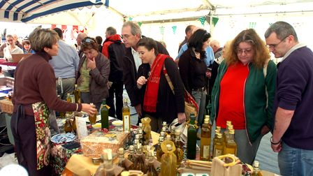 Dozens of market stalls are set up every year