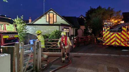 Suffolk Fire and Rescue Service carried out a training exercise at Bungay Staithe on September 21.