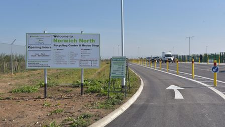 The new Norwich North Recycling Centre opens