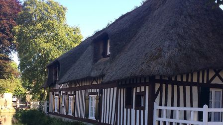 Half-timbered thatched houses are typical of the area