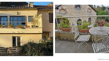 Two-bed riverside house in Charente, 149,800 euros