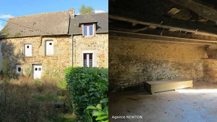 12,000 euros: This stone house for renovation is in a small, picturesque hamlet in Côtes dArmor, Bri