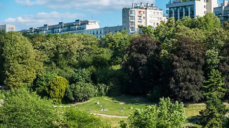Panoramic view of the Parc des Buttes-Chaumont © Carlos Sanchez Pereyra