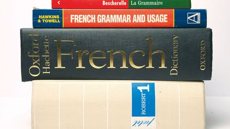 A collection of French language learning books © Archant
