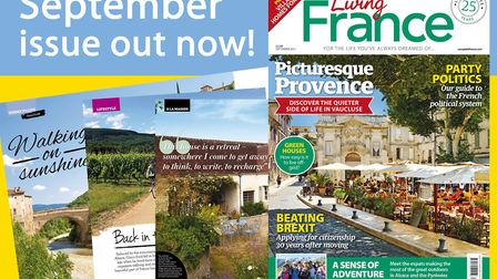 The September 2017 issue of Living France is out now!