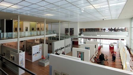 A view of the main exhibition space inside the Musée des Beaux Arts André Malraux in Le Havre © Velv