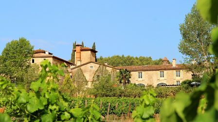A view of Château de Berne from the vines