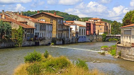 The quaint town of Saint-Girons, home to a bustling market iStockphoto