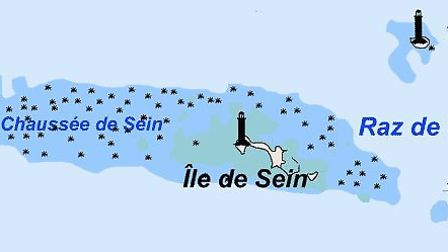 Tevennec is located in the tempestuous waters of the Raz de Sein strait. Pic: Realisation Pline