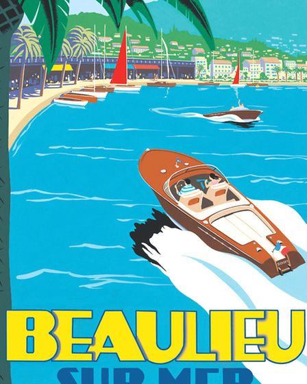 A speed boat races towards the chic resort of Beaulieu-sur-Mer