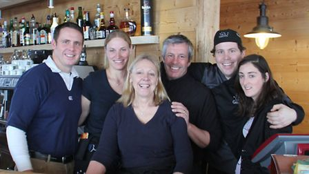 From left: Gareth, Lianne, Theresa, Gary, Ross and Sarah