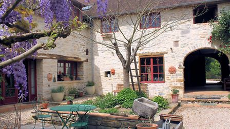 In the countryside south of Pau, this Béarnaise farmhouse is on the market for E780,000 (Le Bonheur)