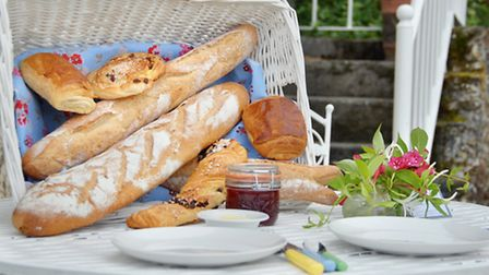 Gourmet breakfast baskets give guests an authentic taste of France