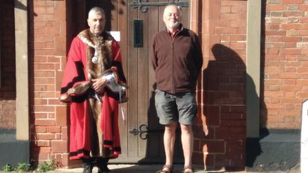 Councillor Richard Stubbings with Chris Greenhill, chair of the Neighbourhood Plan Operational Group.