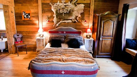 One of several quirky chalet interiors at Le Ferme du Lac Vert