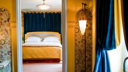 One of the colourful rooms on offer at L'Hôtel