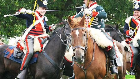 Napoleonic Association during a re-enactment at Spetchley Park near Worcester