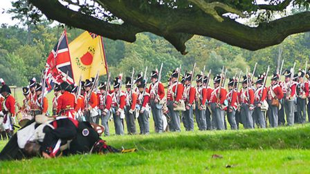 A re-enactment taking place at Ickworth House in Suffolk