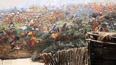 Part of the huge painting of the battle in the Panorama
