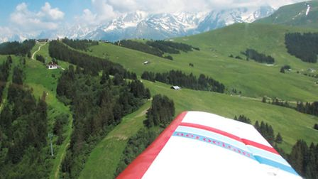 A plane takes to the skies for unparalleled views of the glaciers near Mont Blanc