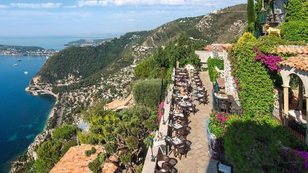 The wonderful La Chèvre d'Or hotel and restaurant in Èze affords breathtaking views over the Mediter