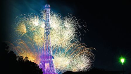 Fireworks provide a colourful backdrop to the Eiffel Tower © Fotolia