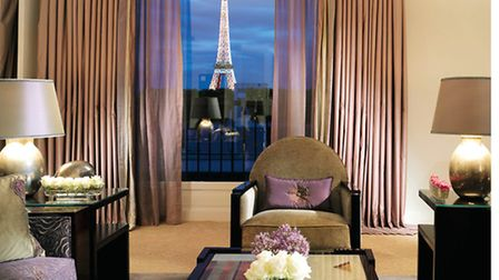 The Hôtel Plaza Athénée's Eiffel Suite provides a breathtaking view of the Eiffel Tower