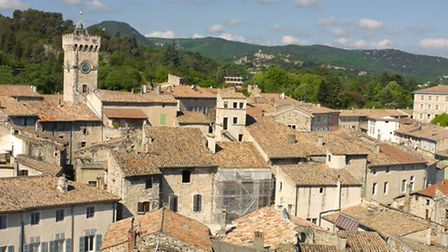 Rooftops in Viviers, France