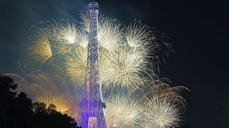 A magnificent display of fireworks rounds off the Quatorze Juillet celebrations in Paris