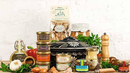 A hamper of delectable French goodies