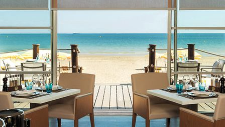 Enjoy dinner with a sea view at l'Hermitage Barrière