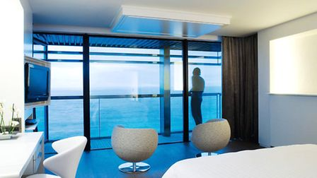 One of the many modern suites at Hôtel Oceania in Saint Malo