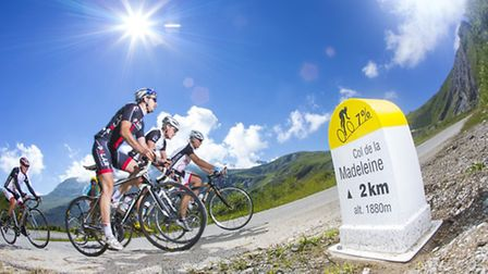 Cycling near Valmorel in the French Alps Credit: Scalpfoto_valmorel_ete