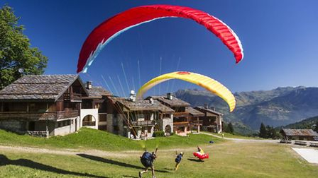 Paragliding in the French Alps Credit: Pierre Jacques