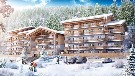 This computer-generated image shows how MGM's Chalet Les Marmottons in La Rosière will look when the
