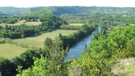The view of the River Lot from Cahors