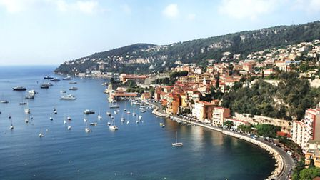 An aerial view over Villefranche-sur-Mer ©iStockphoto