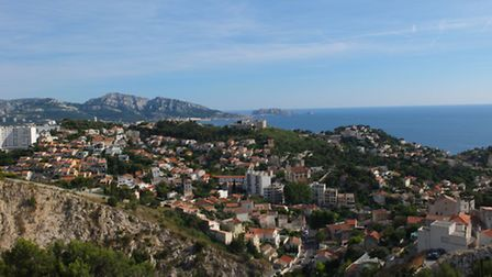 The spectacular view along the coast from the city