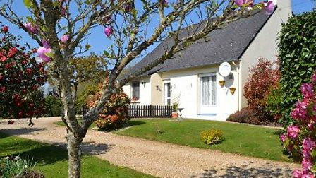 This two-bedroom bungalow enjoys secluded gardens