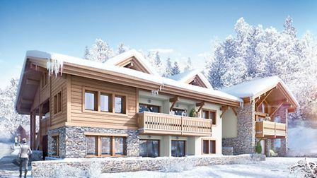Ski apartments are for sale in this MGM development in Chamonix