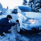 Snow chains are fitted to tyres to improve traction in snowy conditions