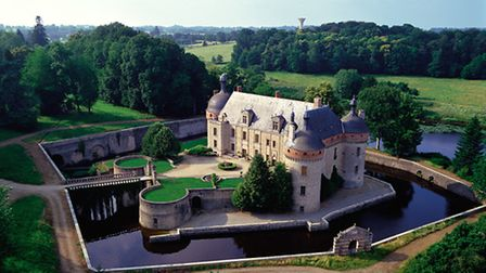 Splurge: this spectacular listed, moated chateau in Limousin is set in 17ha of wooded grounds with o