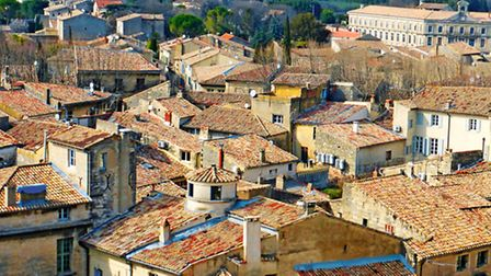 The ancient red rooftops of Uzes