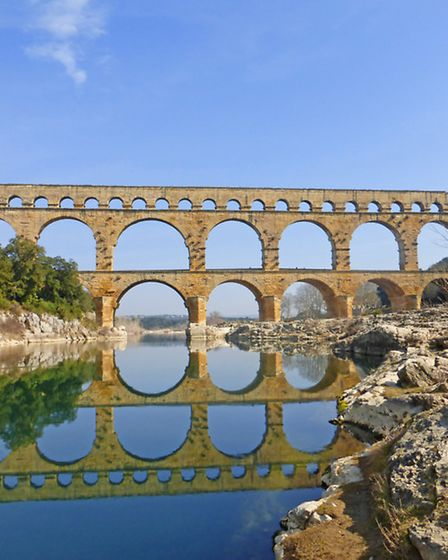 The stunning arches of the Pont du Gard
