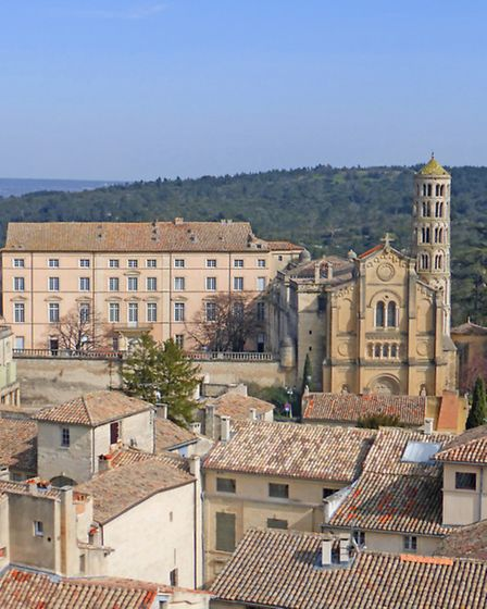 Uzes' cathedral, which has a neo-Classical facade