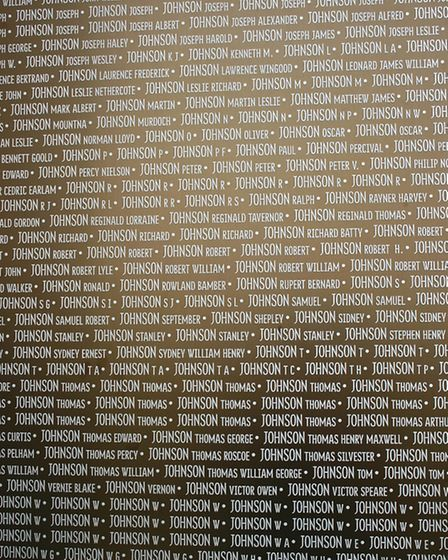 The many war dead who share the surname Johnson