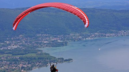 The skies above Annecy are one of the world's top ten destinations for paragliding